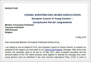 Conseil EuropeenDes Jeunes Agricultures