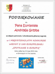 Konkurs Spotkanie z Europą
