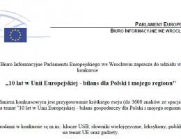 10 lat w UE – konkurs