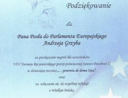 Recytowali dla Jana Pawła II