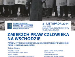 """""""Zmierzch praw człowieka na Wschodzie"""" – debata z okazji przyznania Nagrody im. Sacharowa"""