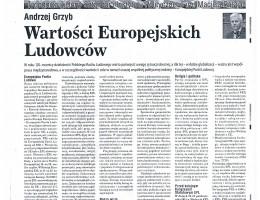 Wartości Europejskich Ludowców – Andrzej Grzyb