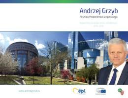 Andrzej Grzyb – Podsumowanie działalności 2014-2016