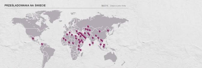 prześladowania mapa