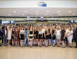 Młodzi laureaci w Parlamencie Europejskim