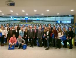 Wielkopolska młodzież z wizytą w Parlamencie Europejskim