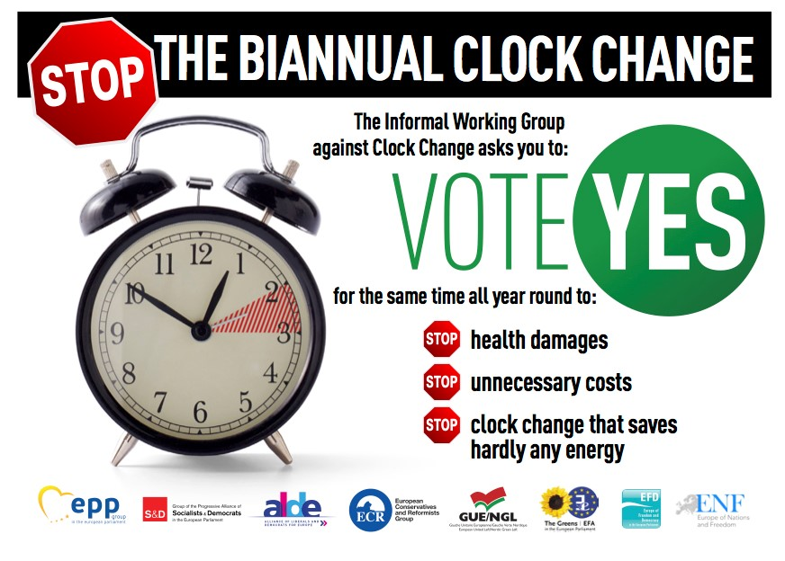Stop biannual time change in EU 02 2018