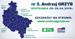 Spotkania z dr Andrzejem Grzybem 25-28.04.2019r.