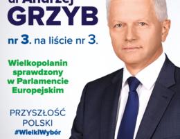 Program wyborczy i podsumowanie działalności dr Andrzeja Grzyba posła do PE