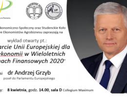 Wsparcie Unii Europejskiej dla bioekonomii w Wieloletnich Ramach Finansowych 2020