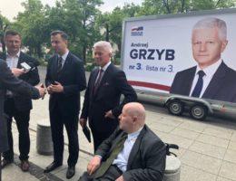 Senator Jan Filip Libicki wspiera kandydaturę Andrzeja Grzyba startującego z miejsca nr 3 – pierwszego Wielkopolanina na liście Koalicji Europejskiej