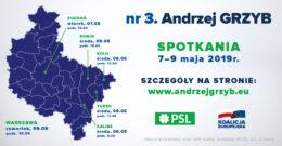 dr Andrzej Grzyb – spotkania 7-9 maja 2019r.