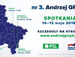 dr Andrzej Grzyb – spotkania 10 -12 maja 2019r.
