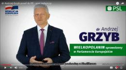 #WielkopolskiWybór- spot wyborczy posła do PE dr Andrzeja Grzyba