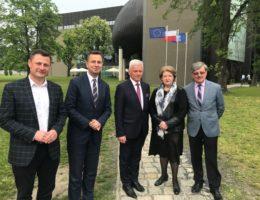 Hanna Suchocka wspiera kandydaturę Andrzeja Grzyba startującego z miejsca nr 3 – pierwszego Wielkopolanina na liście Koalicji Europejskiej