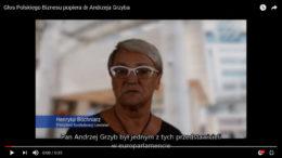 Poparcie dr Henryki Bochniarz, Prezydent Konfederacji Pracodawców Lewiatan. Głos Polskiego Biznesu na dr Andrzeja Grzyba