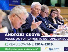 dr Andrzej Grzyb o tym co zrealizowane w Parlamencie Europejskim 2014-2019