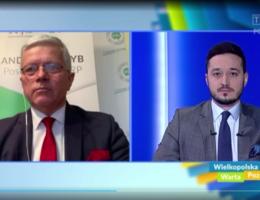 """""""Wielkopolska Warta Poznania"""" czyli poseł Andrzej Grzyb podsumowuje rok 2020 na antenie TVP3 Poznań"""