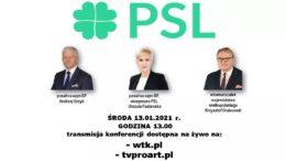 Konferencja prasowa online 13.01.2021r.