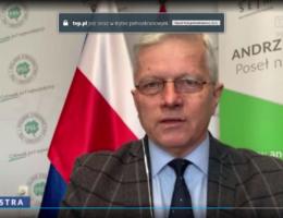 O działaniach rządu w walce z koronawirusem – Poseł Andrzej Grzyb gościem programu Lustra 08.02.2021r.