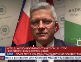 Poseł Andrzej Grzyb gościem programu Minęła 20 w TVP INFO 05.02.2021r.