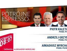 """Andrzej Grzyb gościem audycji """"Potrójne espresso"""" w TV Republika 04.03.2021r."""