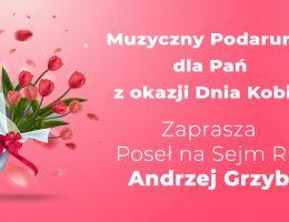 Życzenia z okazji Dnia Kobiet i muzyczny podarunek dla Pań
