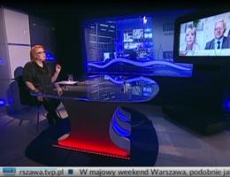 """Poseł Andrzej Grzyb gościem programu """"Region-Polityka""""  na antenie TVP3 Warszawa 01.05.2021r."""
